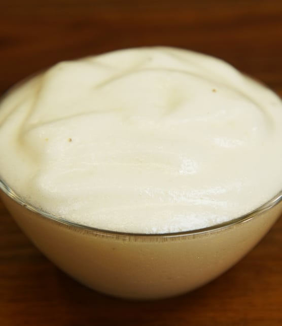Comment faire de l'aquafaba selon Marie-Catherine Marsot