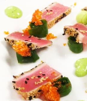 Tataki de thon rouge et caramel de soya