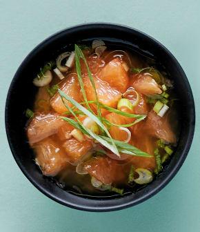 Sauce au pamplemousse rose pour huîtres
