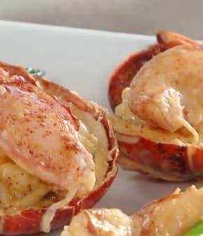 homard et crabe au beurre de citron vert