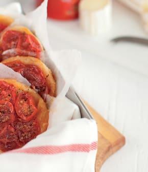 tartes tatins aux tomates et au chèvre