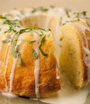 gâteau à la crème sure et au pamplemousse