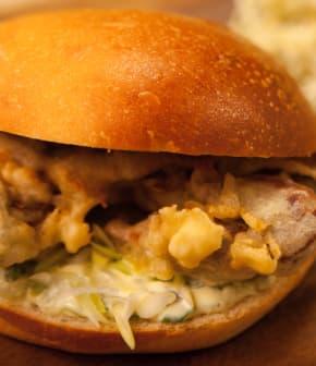 sandwich décadent au crabe à la carapace molle