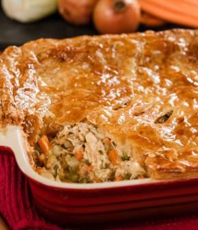 pâté au poulet et petits légumes
