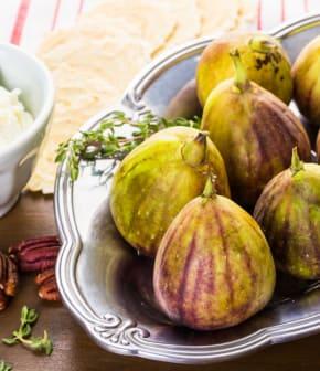 figues au balsamique et crème fouettée