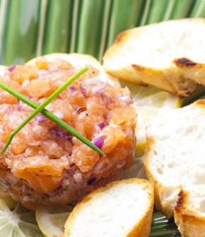 tartare sucré aux deux saumons