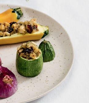 petits légumes farcis au quinoa
