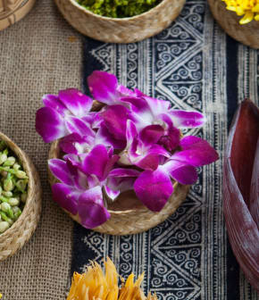 garniture florale comestible