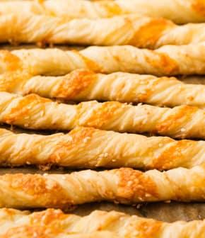 torsades au fromage et sésame