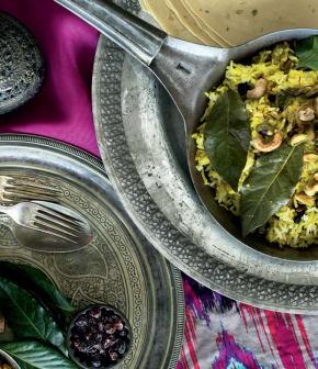 kesar Chawal (Riz au safran et aux noix)