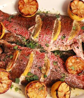 poissons grillés style romain