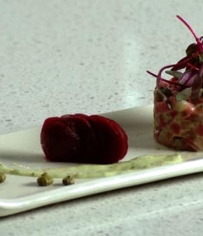 tartare de betteraves multicolores