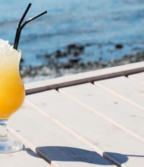 cocktail au coco et à l'ananas