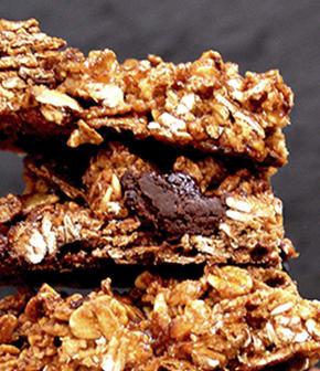 barres tendres au pépites de chocolat