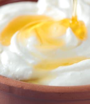 mousse de yogourt grec au miel et au tilleul