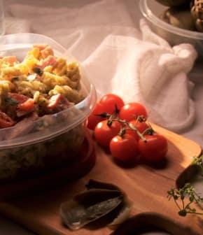 salade de pâtes et artichauts vinaigrette