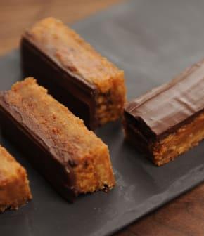 barres fondantes choco-caramel