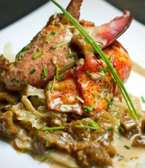 homard poché aux figues séchées