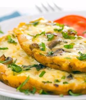 omelette au basilic