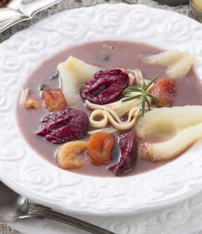 soupe de fruits frais parfumée à la vanille
