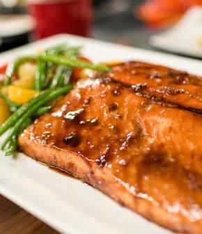 saumon laqué à l'asiatique