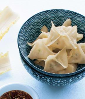 dumplings express aux crevettes