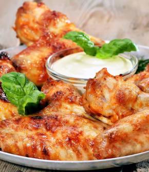 ailes de poulet à la moutarde et au miel