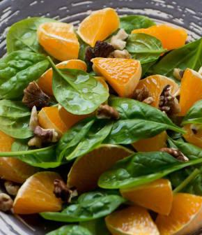 salade d'épinards et d'oranges