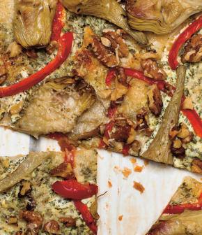 tarte feuilletée aux artichauts et noix de Grenoble