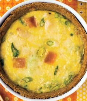 quiche « sans gluten » au jambon et au fromage