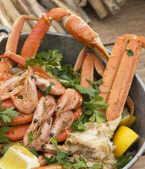 crevettes et crabe à la jerk