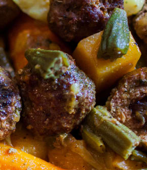 boulettes de bœuf farcies aux dattes