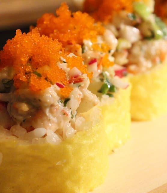 maki au homard et aux crevettes nordiques