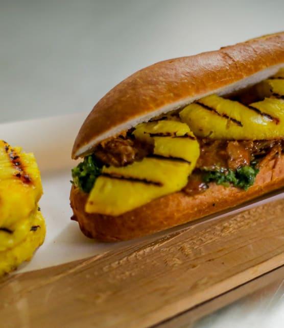 sandwich de porc effiloché