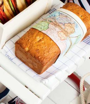 pain aux pêches et à l'avoine