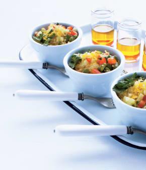 salade aux gourganes, au boulghour et à la menthe