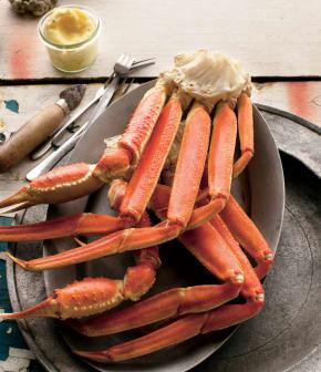 crabe des neiges et sa sauce