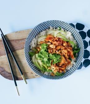 stir-fry de bok choy au gingembre et au poulet