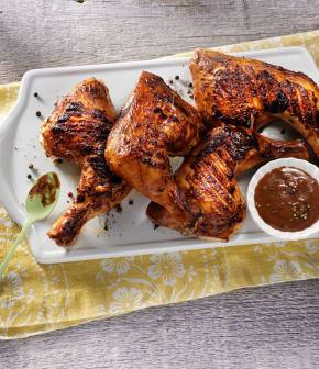 poulet grillé aux grains de poivre