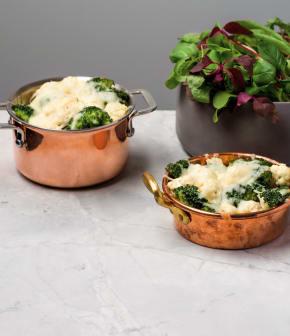 gratin de chou-fleur et brocoli