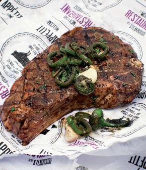 steak à la poêle, sauce de l'enfer