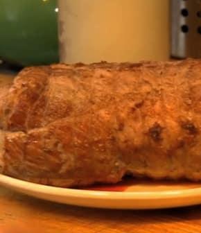 rôti de porc cul noir aux légumes de saison