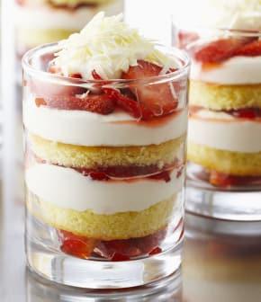 verrines de shortcake aux fraises