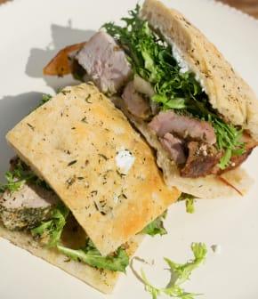 sandwich de porchetta