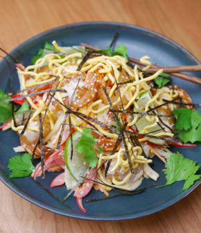 salade thaïe de crevettes rôties