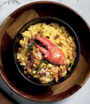 risotto au homard et safran