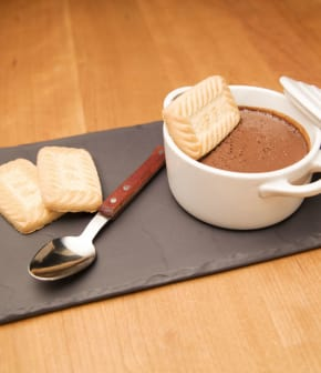 pudding au chocolat noir et au tofu soyeux