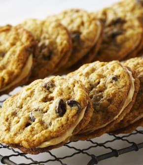 biscuits-sandwichs à l'avoine et aux raisins