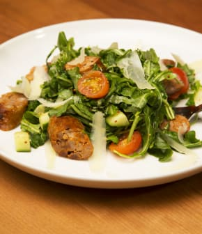 salade de roquette et chorizo rôti