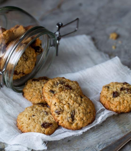 biscuits au gruau, chocolat et noix